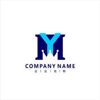 字母YM 科技 电子 标志logo CDR