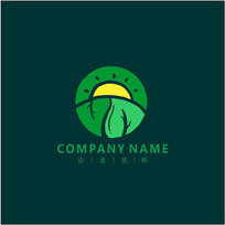 自然 绿色 叶子标志 logo