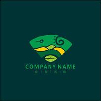 自然 绿色 叶子标志 logo CDR