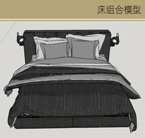 典雅黑带灯具床