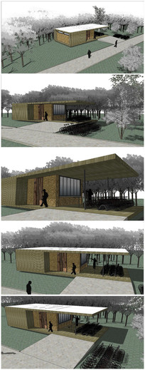 精品旅游区公厕建筑SU模型