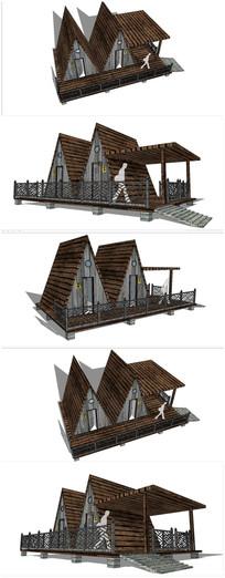 木屋坡屋顶公共卫生间j建筑
