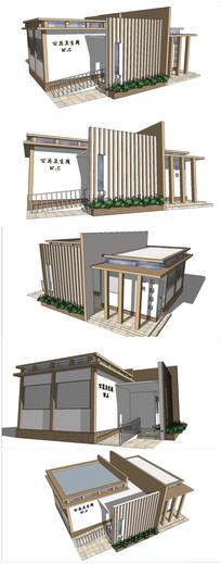 现代厕所SU模型
