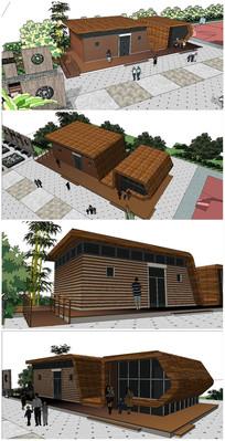现代精品公共厕所建筑SU模型