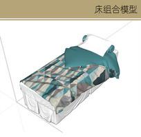 有图案的单人床