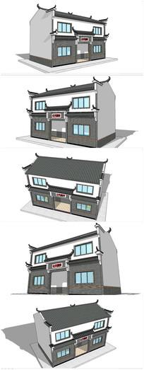 中式风格公共卫生间SU模型