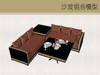 中式奢华沙发组合