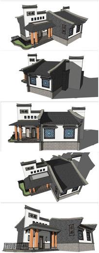 中式乡村建筑SU模型