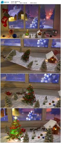 圣诞节新年节日片头视频