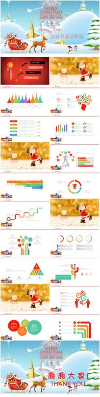 喜庆圣诞节活动策划PPT模板