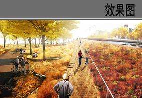 城市街头绿地改造景观效果图