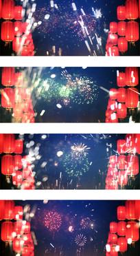 除夕夜春节联欢过大年视频素材