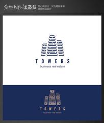 高端建筑公司标志