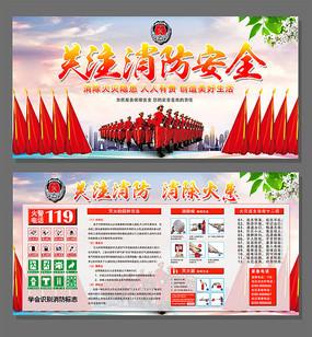 关注消防安全知识宣传海报