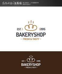 简约面包甜品图形标志 EPS
