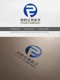 蓝色PF字母logo