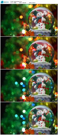 圣诞雪人透明水晶玻璃球
