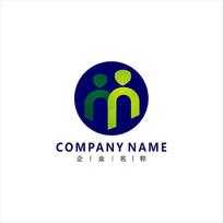 字母M 人才 培训 标志 logo CDR