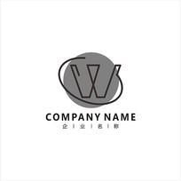 字母W 服装 服饰 标志 logo