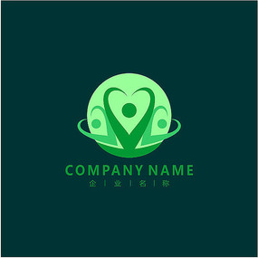 爱心 医药 食品 标志 logo