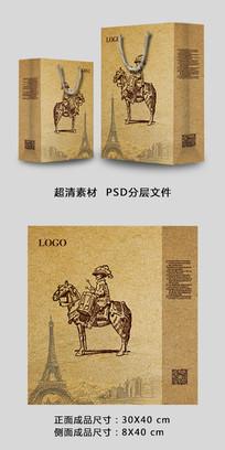 创意手绘复古简欧式高档手提袋