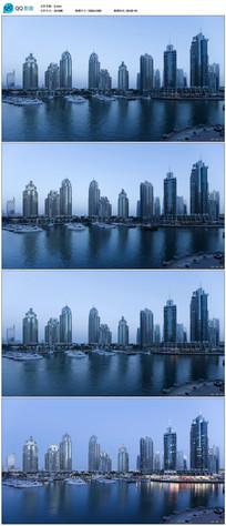 迪拜城市建筑实拍视频