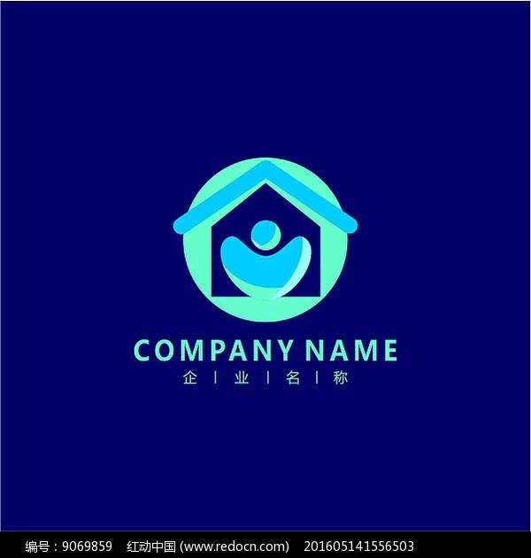 房子 家装 社区 标志 logo图片