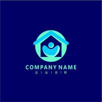 房子 家装 社区 标志 logo