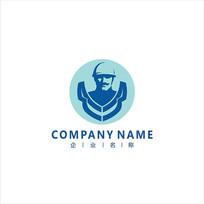 工人 工业 维修 标志 logo CDR