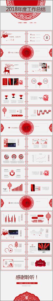工作总结业绩报告PPT模板