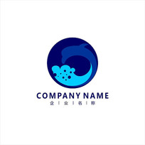 海豚 海洋 水产 标志 logo