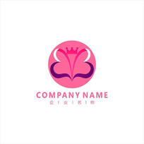 蝴蝶 美容 瑜伽 标志 logo CDR