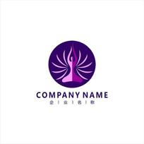 瑜伽 健身 女性 标志 logo CDR