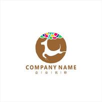 鹿 梅花鹿 标志 logo CDR