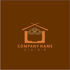 面馆 美食 面条 标志 logo