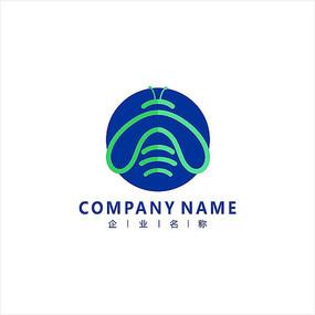 蜜蜂 电子 科技 标志 logo