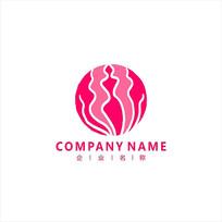 瑜伽 女性 健康 标志 logo