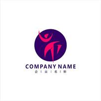 女性 舞蹈 运动 标志 logo CDR