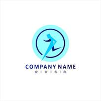 跑步 物流 配送 标志 logo