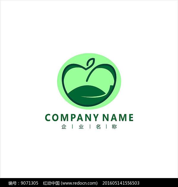 苹果 绿色 水果 标志 logo图片