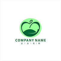 蘋果 綠色 水果 標志 logo