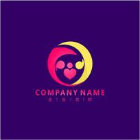 亲子 家庭 关爱 标志 logo