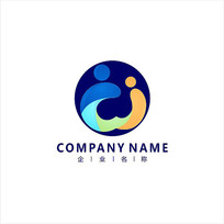 亲子 字母W 标志 logo CDR
