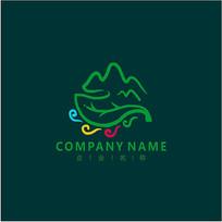 山水 旅游 风光 标志 logo CDR