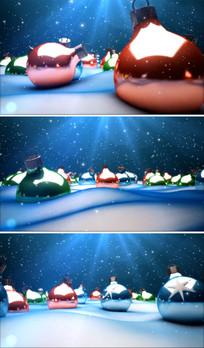 圣诞节平安夜背景视频