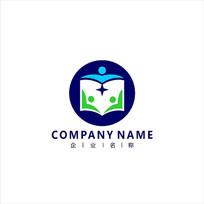 书本 教育 成长 标志 logo CDR