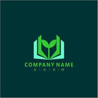书本 教育 生命 标志 logo CDR