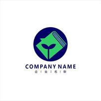 书本 教育 新芽 标志 logo CDR