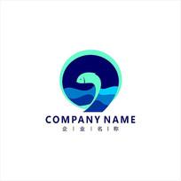 数字9 鱼 标志 logo