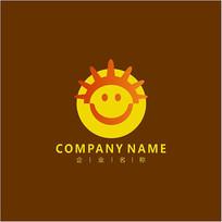 太阳 笑脸 标志 logo